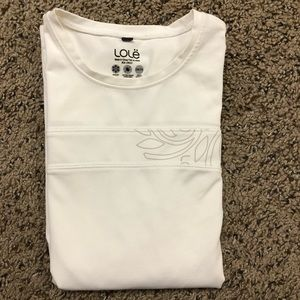 *Lolë Soft White Outdoor Long Sleeve Shirt Small